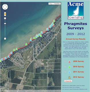 Acme Phragmites Surveys web map