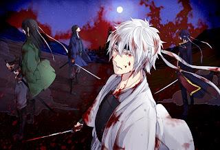 Gintama AnimeBlood Stain Samurai Katana HD Wallpaper Desktop PC Background 1320