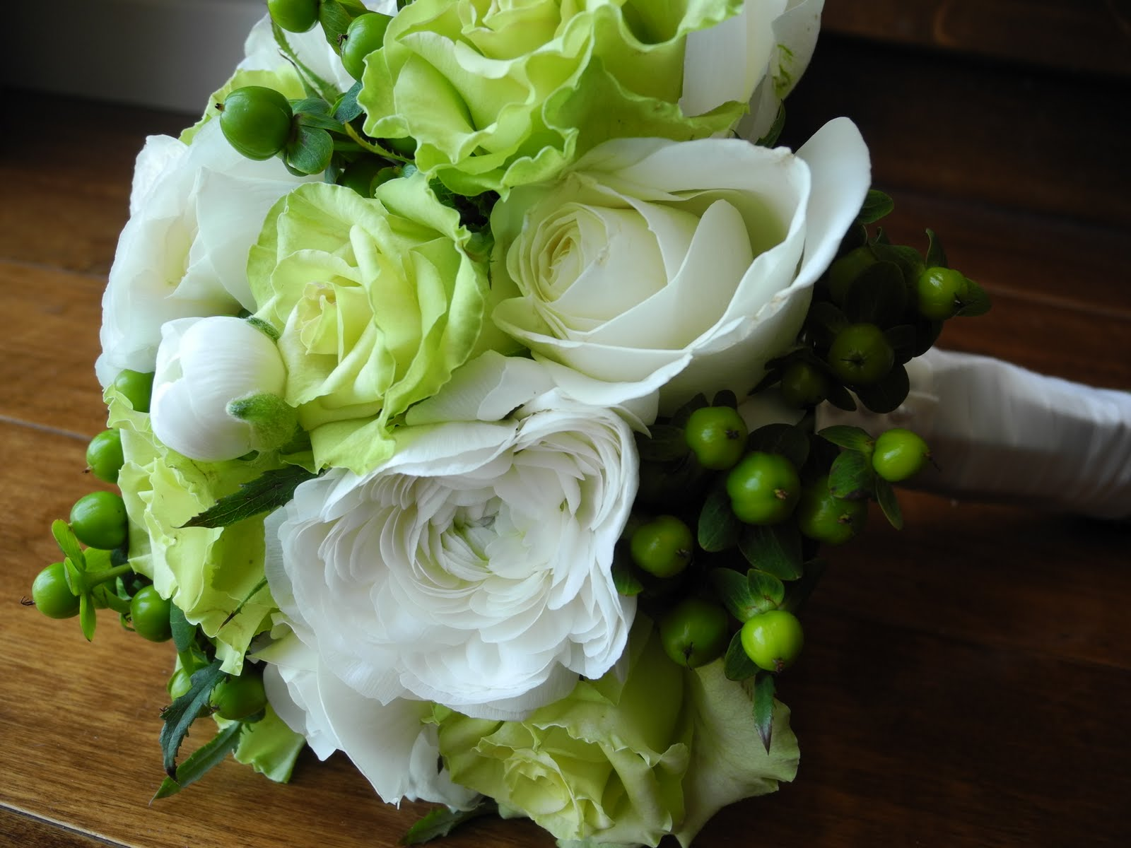 Wedding Flowers White Green : The flower girl cream and apple green wedding