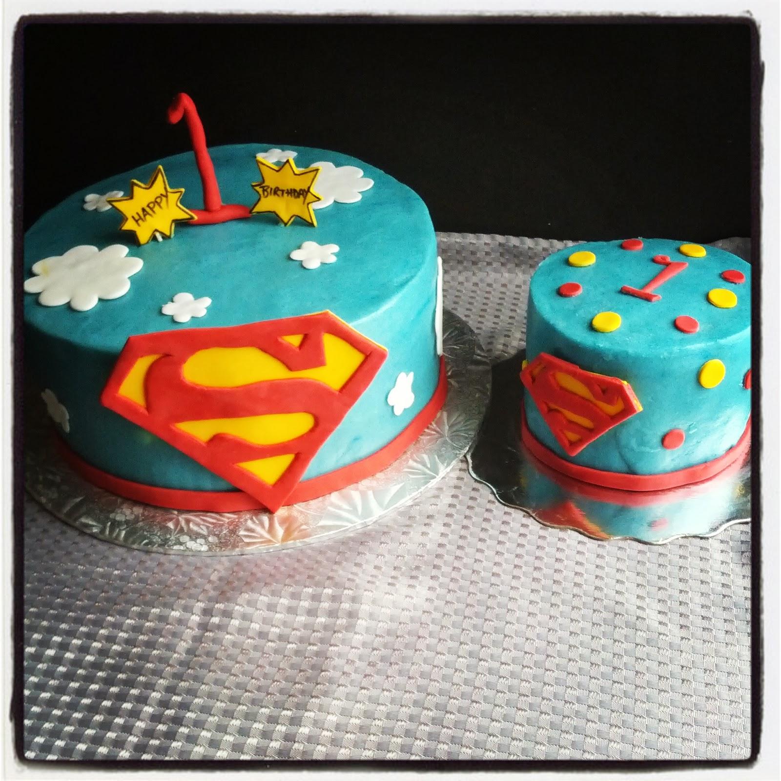 Second Generation Cake Design Superman 1st Birthday Cake