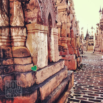 A green heart for Greenheart Travel within hundreds of pagodas in Shan State, Myanmar.