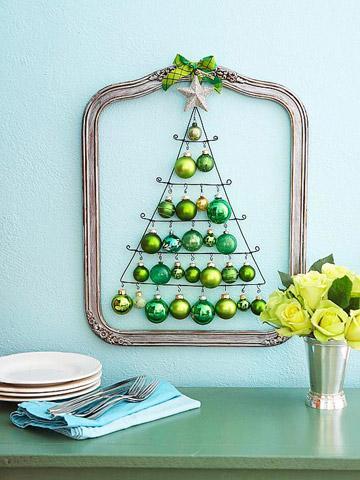 Arbol de Navidad de pared de alambre, muy facil