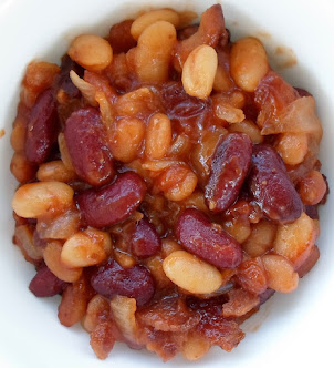 darn good baked beans! (uses canned beans)