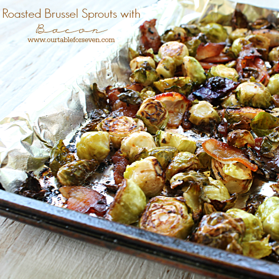 TABLE for SEVEN: Roasted Brussels Sprouts with Bacon
