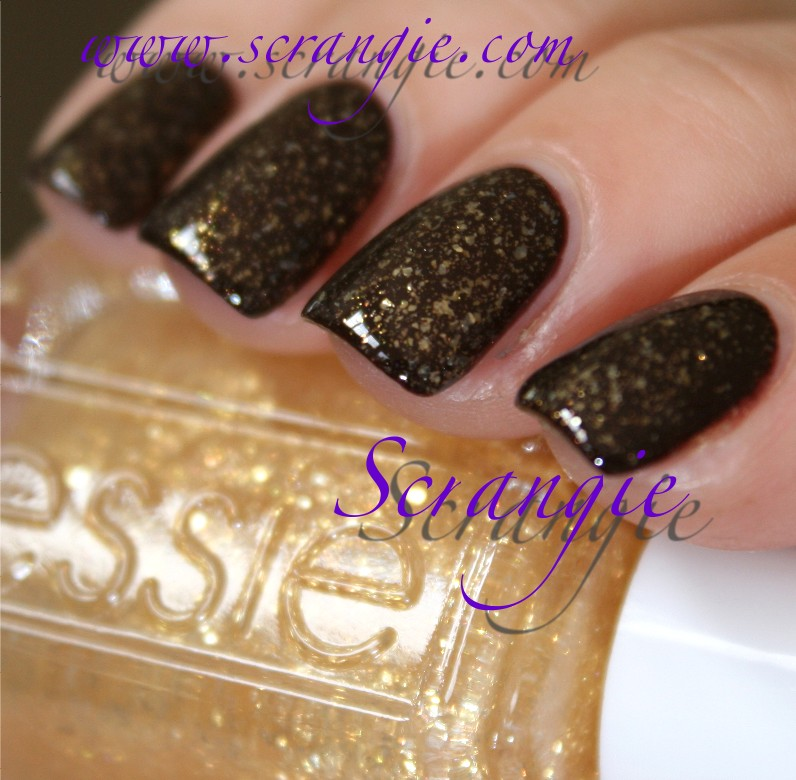 Essie Gold Glitter Essie as Gold as it Gets Over