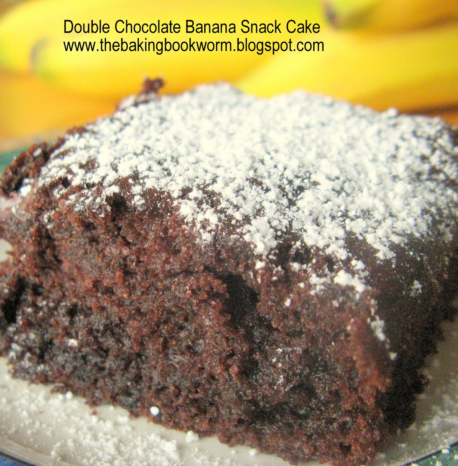 The Baking Bookworm: Double Chocolate Banana Snack Cake