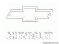 Gambar logo mobil Chevrolet untuk diwarnai