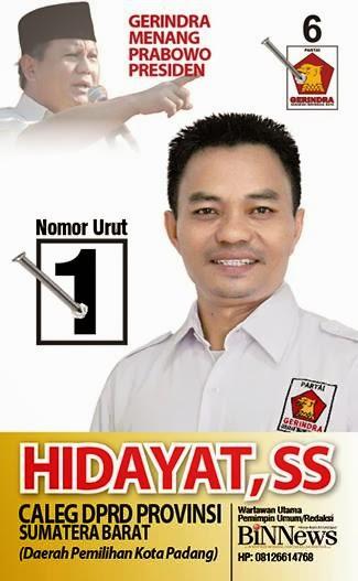 Caleg DPRD Provinsi Sumbar Partai Gerindra