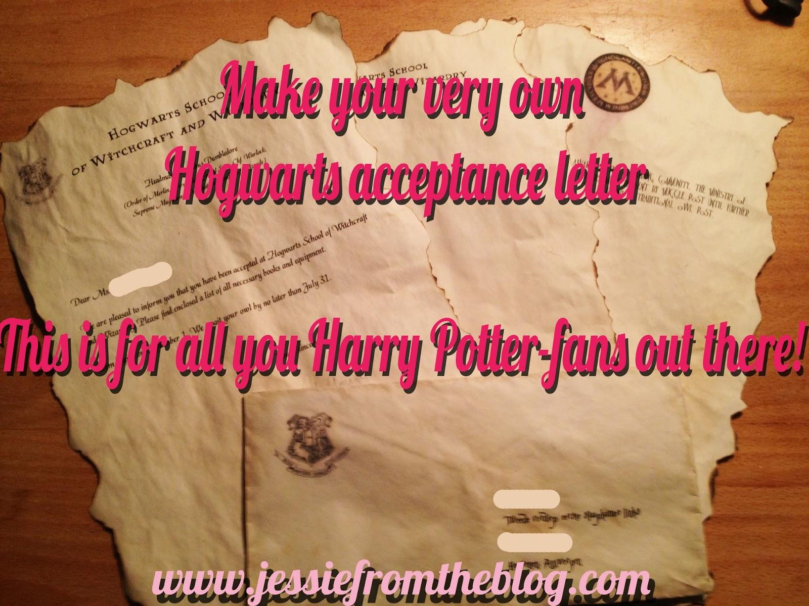 Make a hogwarts acceptance letter craftbnb hogwarts acceptance letter jessie from the blogdiyhogwarts acceptance letter spiritdancerdesigns Gallery