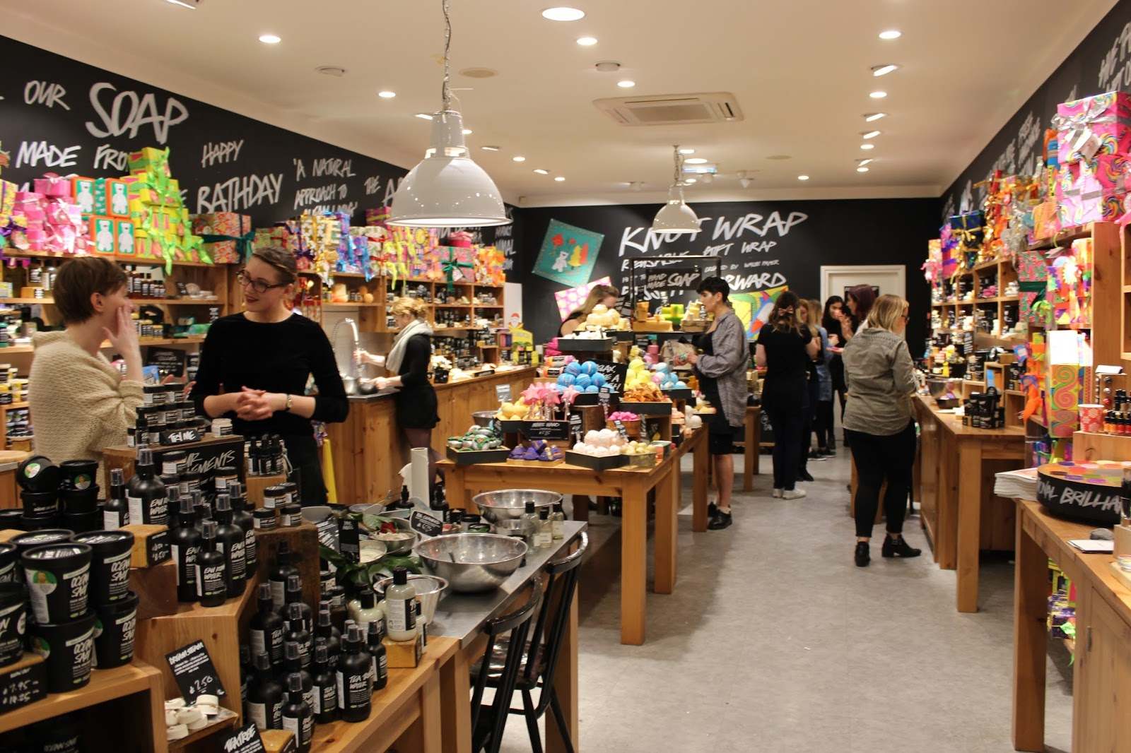 Happy christmas gift lush store