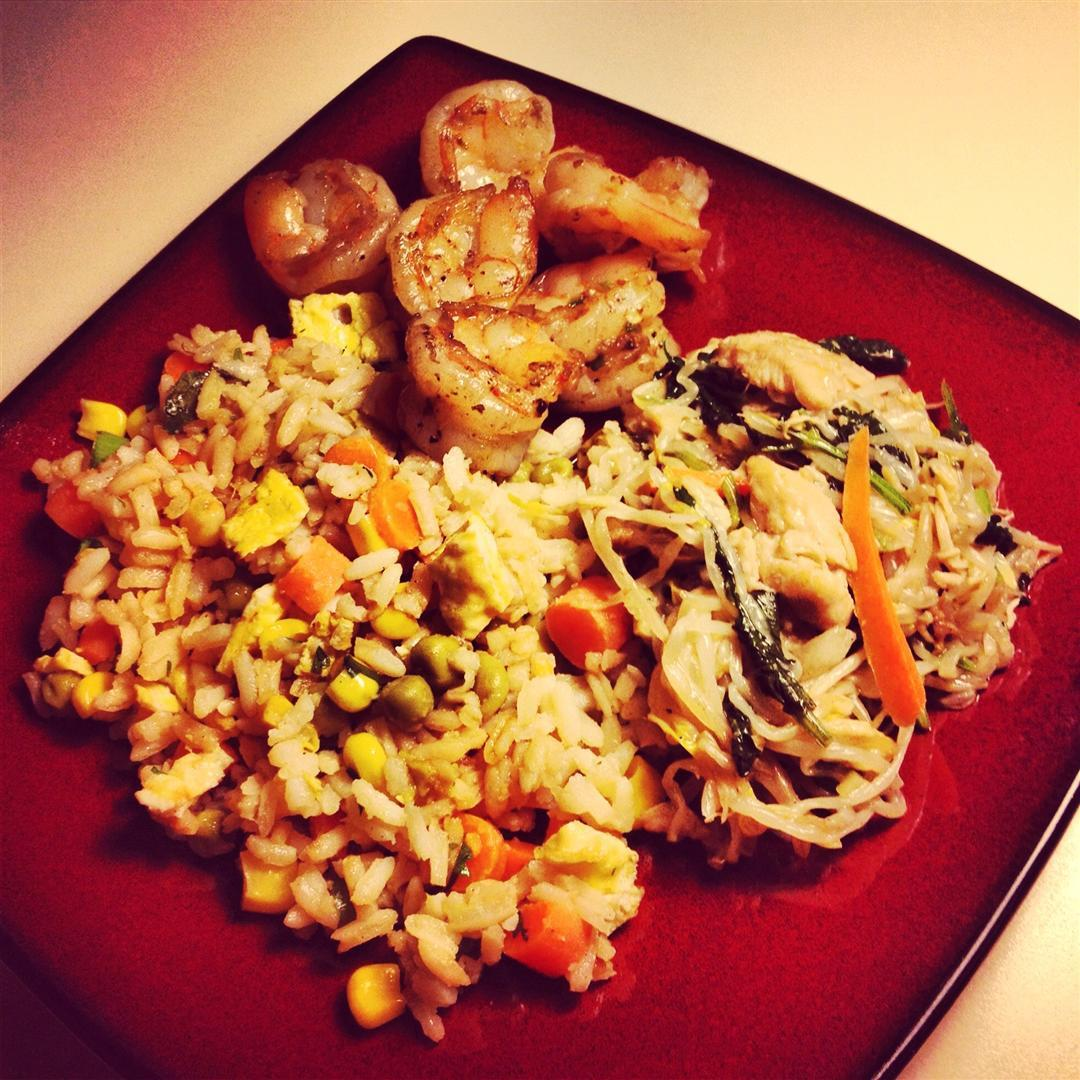 -Fried Rice, Classic Dry-Fried Pepper & Salt Shrimp, and Stir-Fried ...