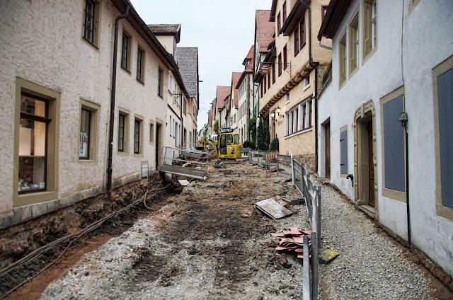 Baustelle Straßenbauarbeiten, Paradeisgasse 3, 91541 Rothenburg ob der Tauber