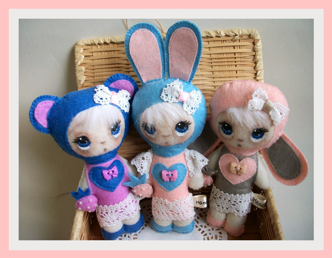 фетровые игрушки, овечка, мишка, зайка