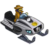 Farmville Penguin Inspector Snowmobile