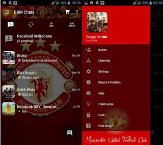 BBM Mod Not Clone Tema Manchester United Versi 2.10.0.31 Apk