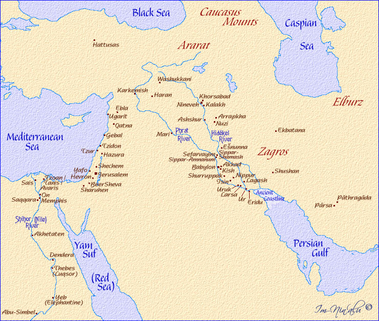 Map Of Middle East Rivers