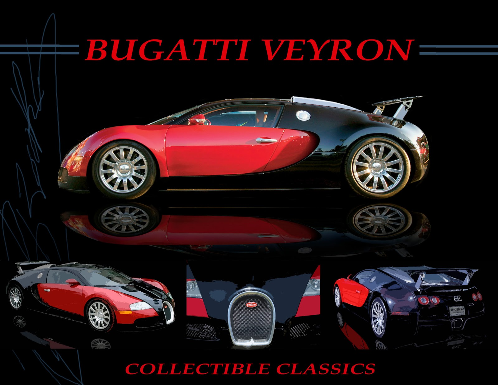 Bugatti Sports Car Poster