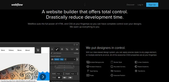 Webflow site builder
