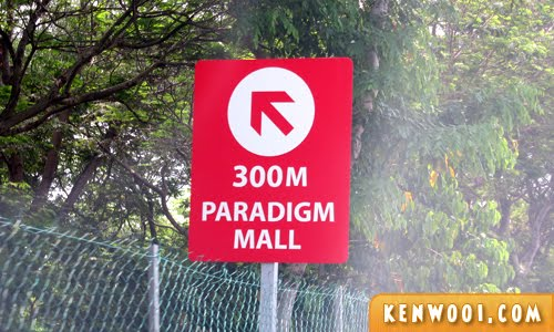 paradigm mall sign