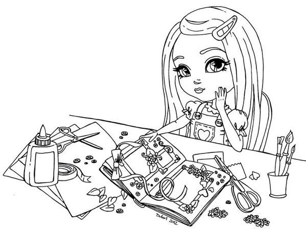 Распечатать крутые раскраски для девочек - 5