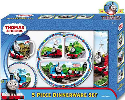 kids popular dinnerware Thomas the train merchandise set of luxury child dishes includes suction cup