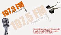 ouvir a Rádio 107,5 FM 107,5 Joinville SC