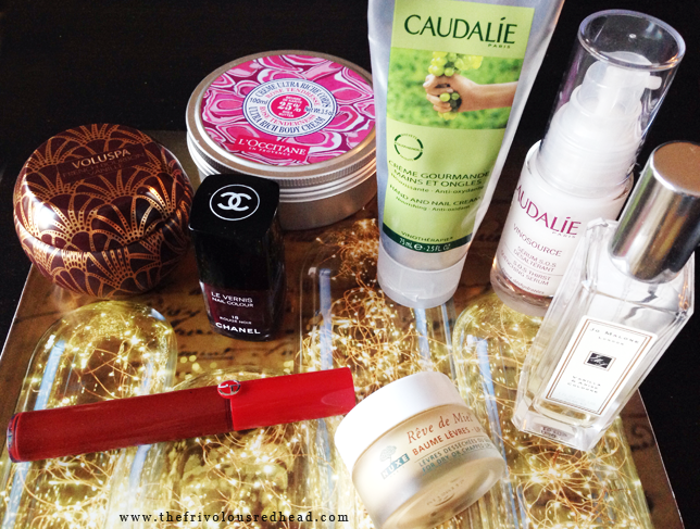 autumn winter beauty essentials chanel giorgio armani caudalie nuxe voluspa jo malone