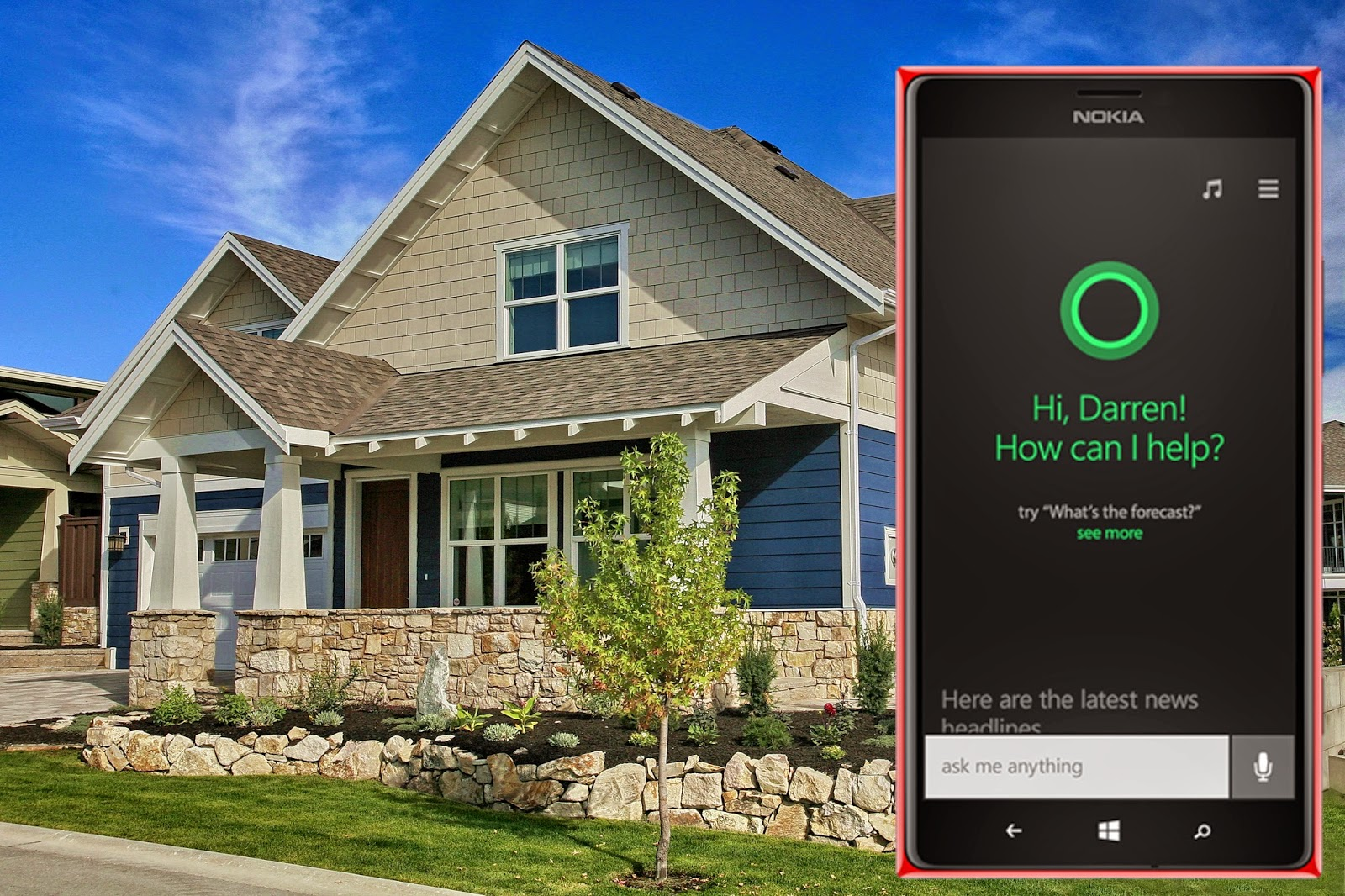 Control your home automation with Cortana Windows phone 8.1 personal ...