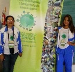 Nossa aluna e professora na IV CNIJMA (Conferência Infantojuvenil pelo Meio Ambiente) em Brasília/D