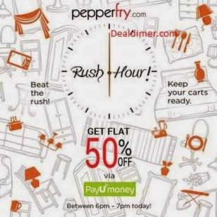 Pepperfry-Rush-Hour-50-cashback-PayUmoney