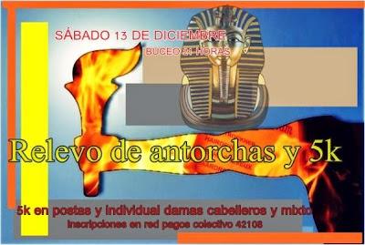 Relevo de antorchas (posta e individual, playa Buceo, 13/dic/2014, hora 21)