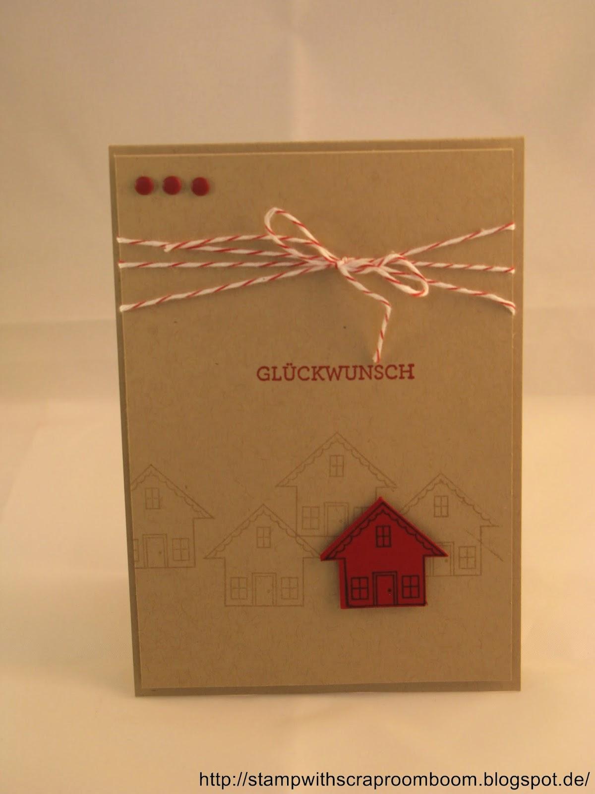 stampin mit scraproomboom eine karte zum umzug. Black Bedroom Furniture Sets. Home Design Ideas