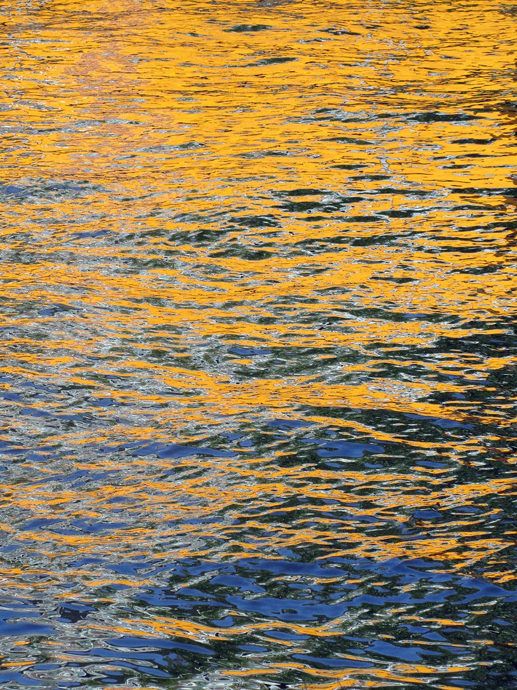yellow reflection in canal