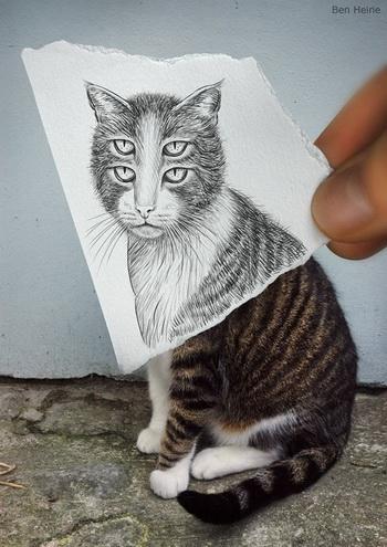 [Gambar] Antara Lukisan Dan Gambar Oleh Ben Heine