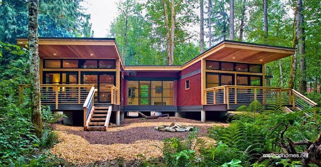 Casa residencial norteamericana prefabricada modular