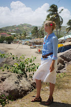 At the beach in St. Kitts