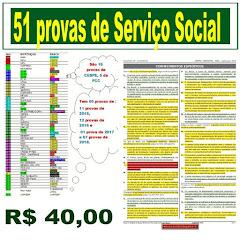 Agora são 51 provas para estudo Serviço Social