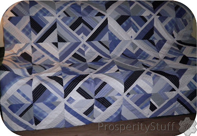 Quilt Top made from men's shirts - ProsperityStuff