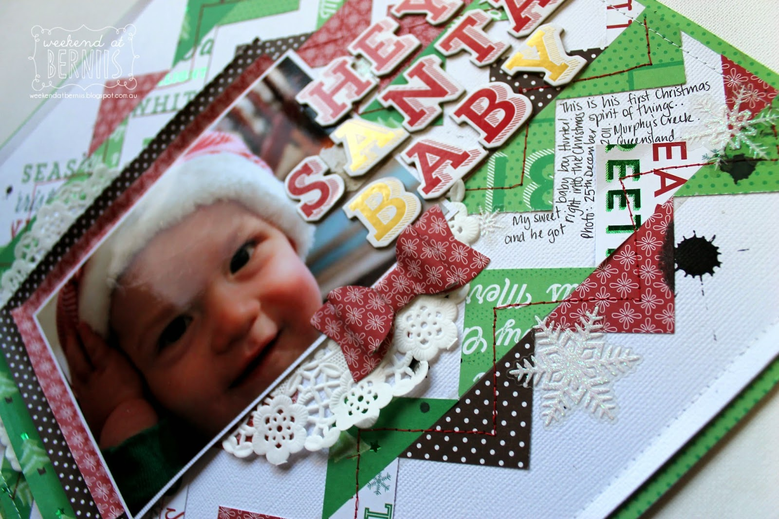 Hey Santa Baby layout by bernii miller using American Crafts