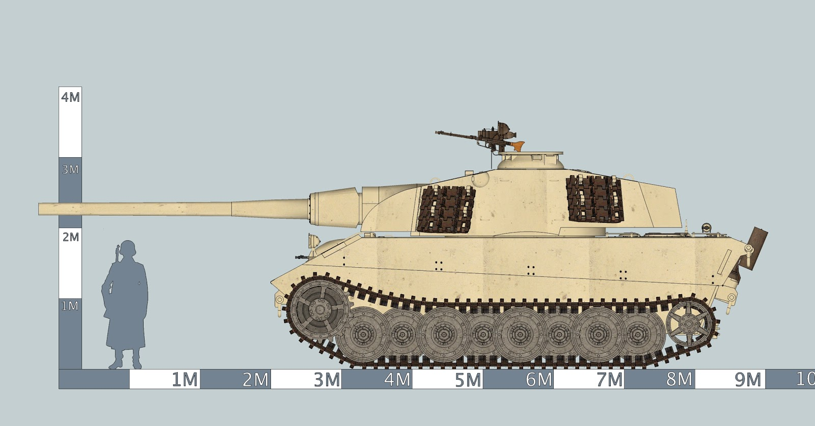 E75 German Tank http://kswong8d.blogspot.com/2011/09/e75-with-128mm-pak44-l55.html