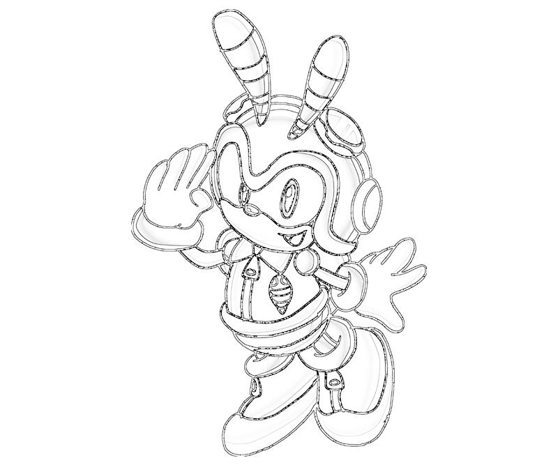 charmy bee coloring pages - photo#2