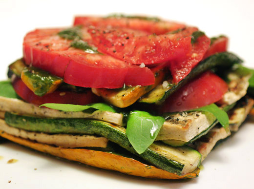 lisa is cooking: Grilled Vegetable and Tofu Lasagna with Pesto
