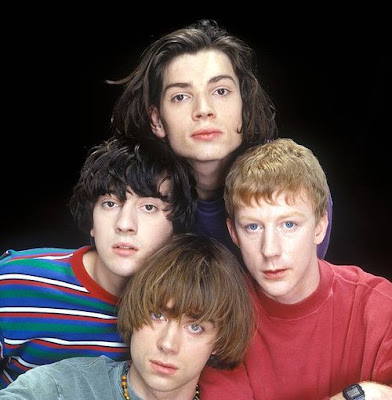blur leisure, blur young, young damon albarn, young alex james, young dave rowntree, young graham coxon, blur leisure hair, blur group leisure