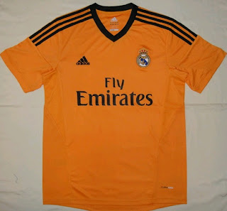 Real Madrid orange shirt for the 2013-2014 season