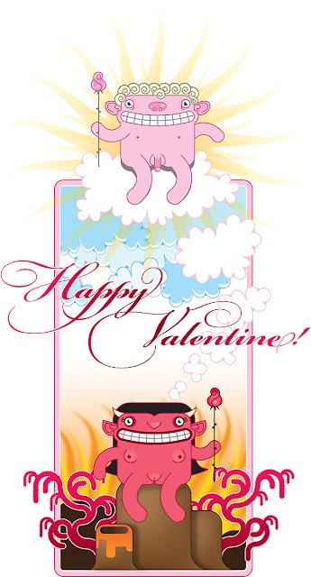 Heaven & Hell Valentin's card