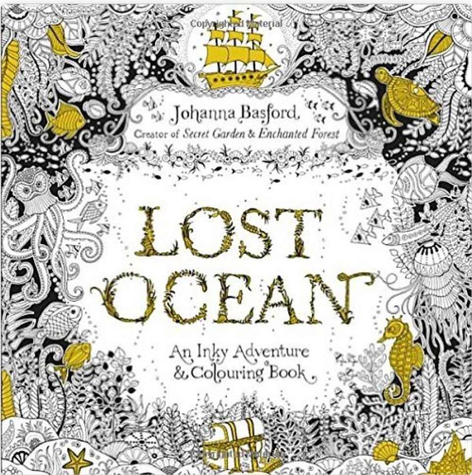 Lost Ocean An Inky Adventure And Colouring Book By Johanna Basford Published Virgin Books Ebury Publishing 22 October 2015