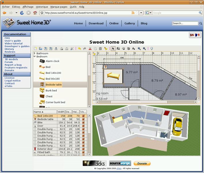 piensa ubuntu dise o de interiores con sweet home 3d en linux ubuntu. Black Bedroom Furniture Sets. Home Design Ideas
