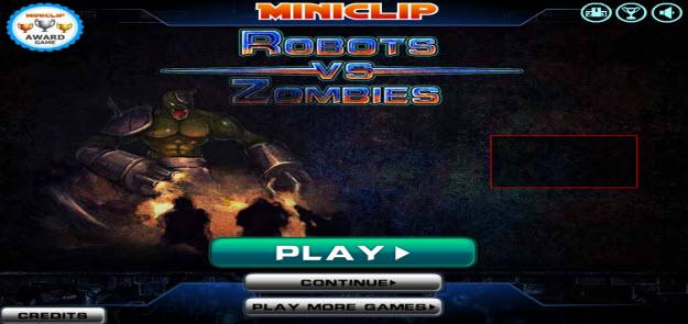 MY-SWFzone, robots vs zombies