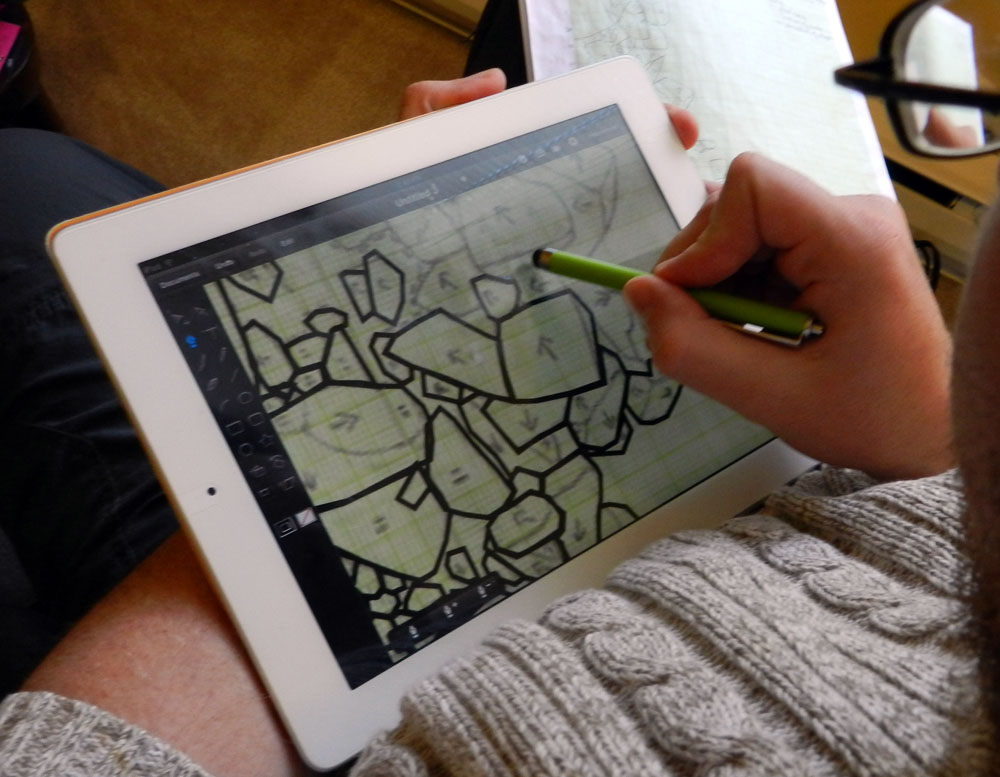 IDraw Archaeological Features On The IPad