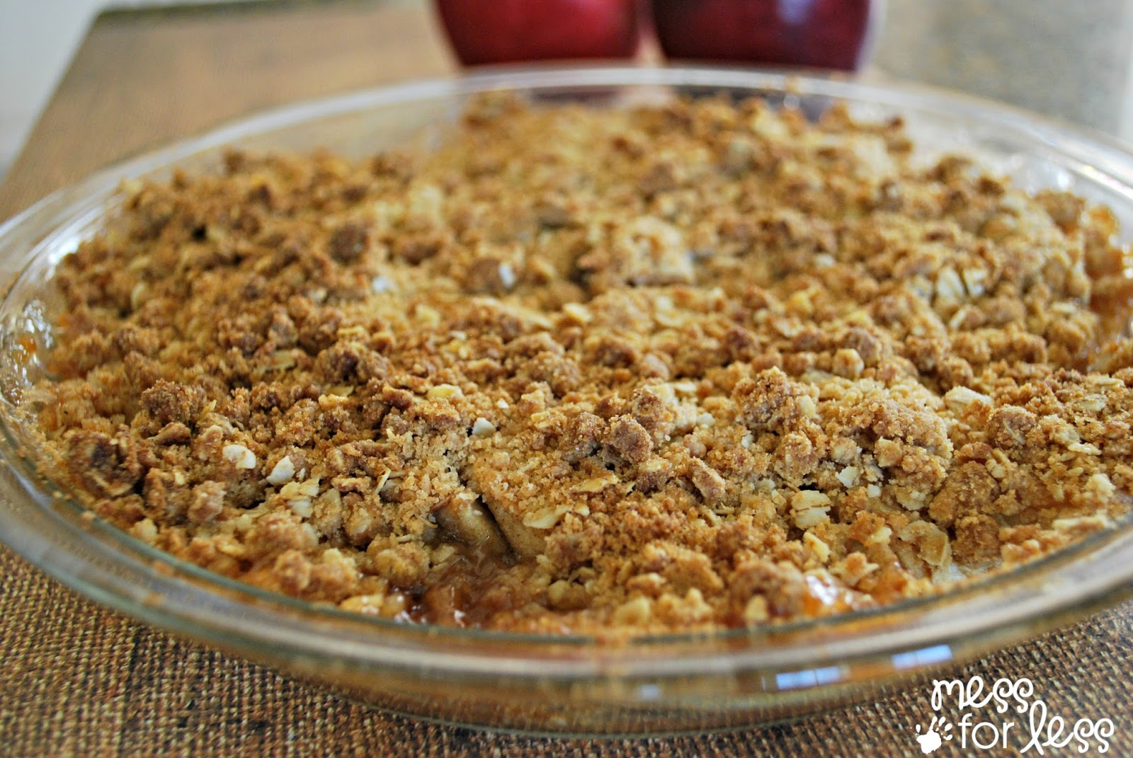 Easy Apple Crisp - Food Fun Friday | Mess For Less